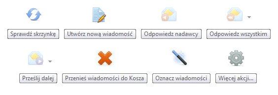 elementy menu głownego - webmail nq.pl