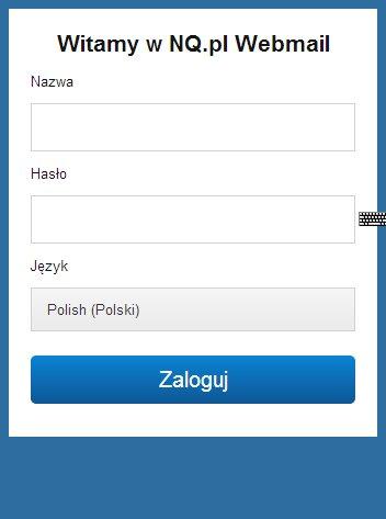 logowanie do webmaila wersja mobilna nq.pl