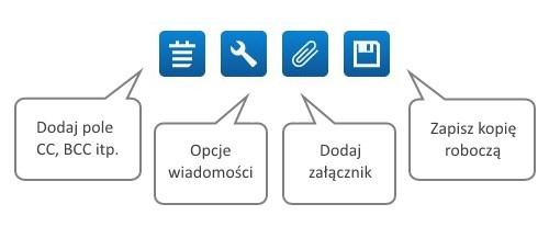 ikony tworzenia wiadomości webmail mobilny nq.pl